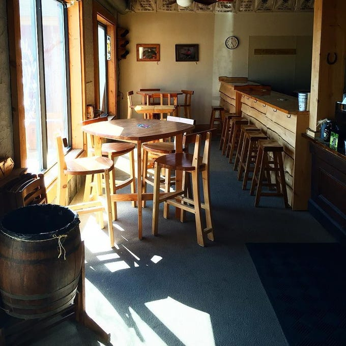 The interior of Lunkenheimer Craft Brewing's current taproom in Weedsport, Cayuga County.