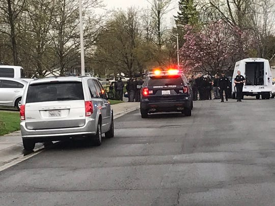 Redding police officers on Tuesday, April 2, 2019 were on Hemingway Street in east Redding, where there was an officer-involved shooting.