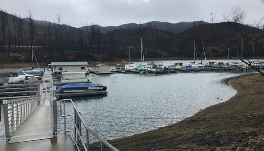 Oak Bottom Marina at Whiskeytown Lake will celebrate its grand re-opening April 27. The marina was nearly destroyed by last summer's Carr Fire.