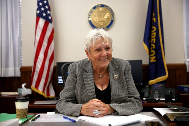 Secretary of State Bev Clarno is interviewed in her office at the Oregon State Capitol in Salem on April 3, 2019.