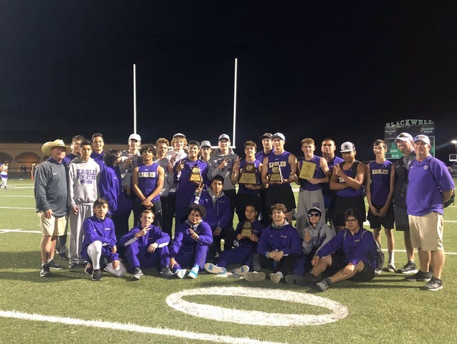 The Sterling City High School boys won the District 11-1A team track and field championship Tuesday, April 2, 2019, in Blackwell.