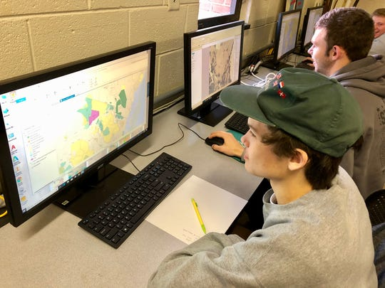 Seniors Isaiah Knopp and Drew Bond are mapping the impact of land-use changes on the Maasai people in Tanzania for the GIS class at the Shenandoah Valley Governor's School.