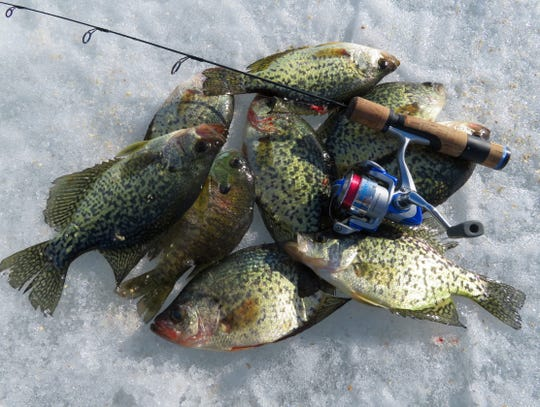 With the ice fading fast, it was nice to catch one last meal of crappies.