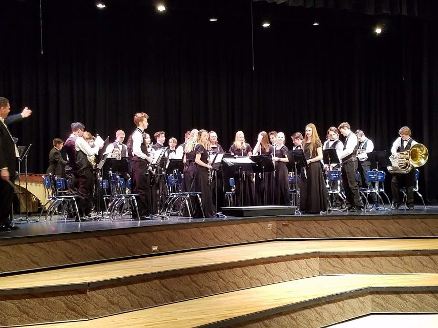 Desert Hills High School's concert band is directed by Mike Winslow.