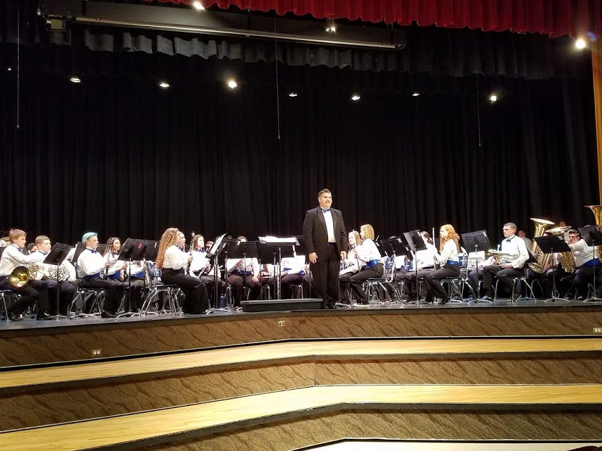 Dixie High School's symphonic band is directed by Will Stucki.