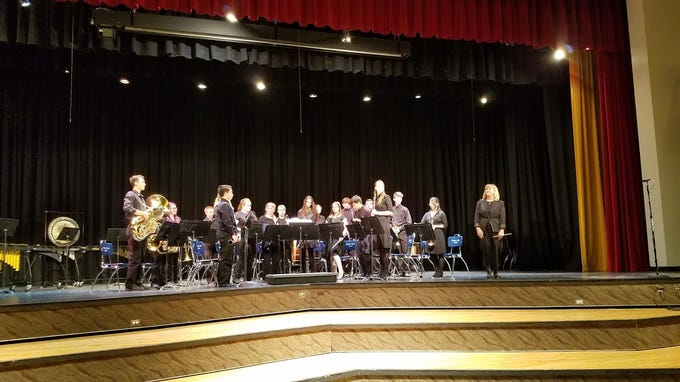 The Hurricane High School concert band is directed by Kathy Young.
