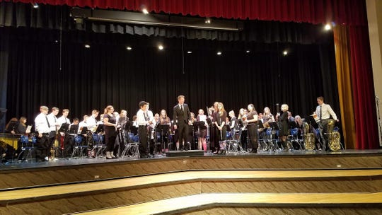 Canyon View High School's symphonic band is directed by David Jordan.