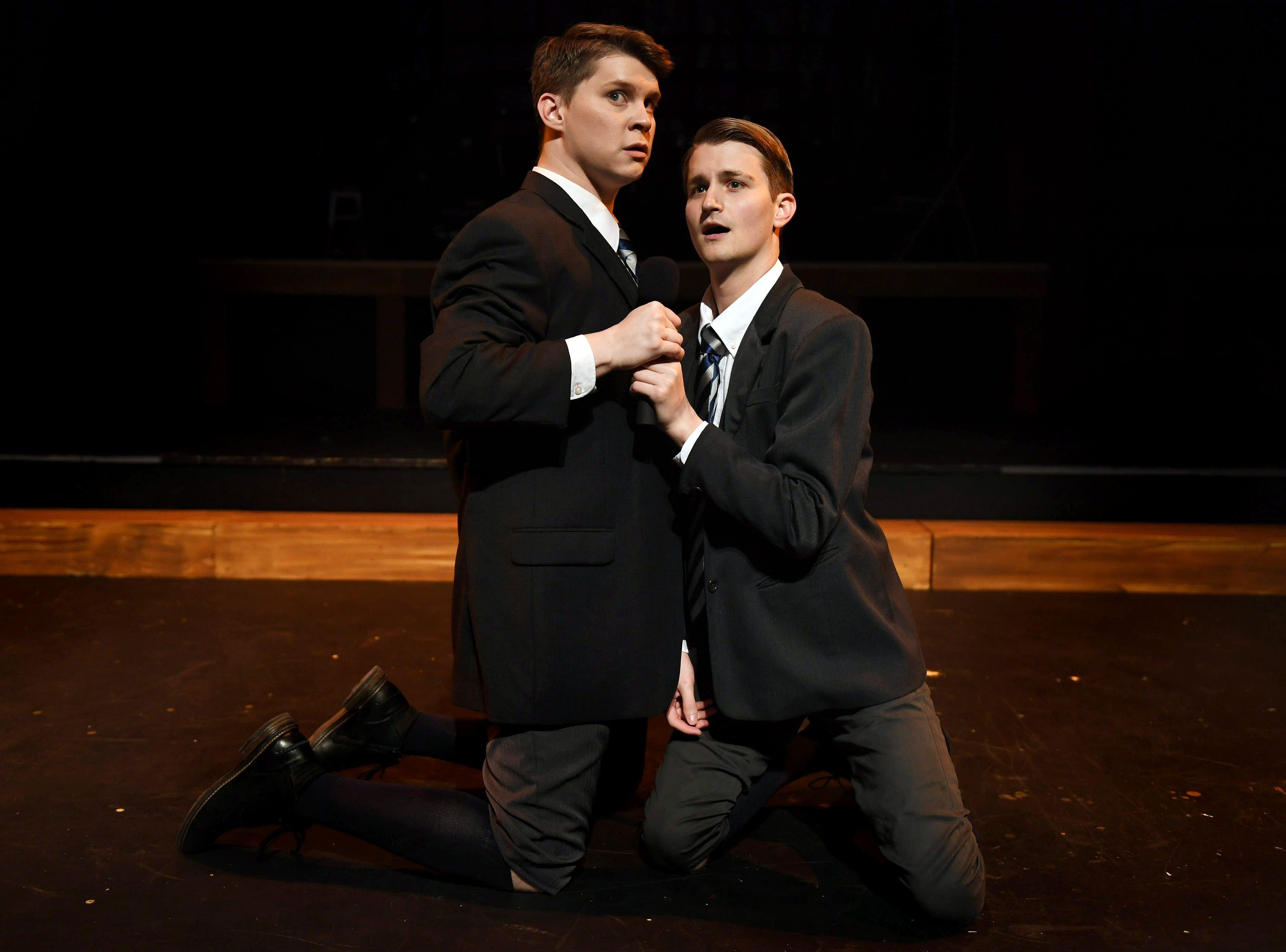 Hanschen (Jon Mathes) and Ernst (Bradley Gay) share a tender moment.