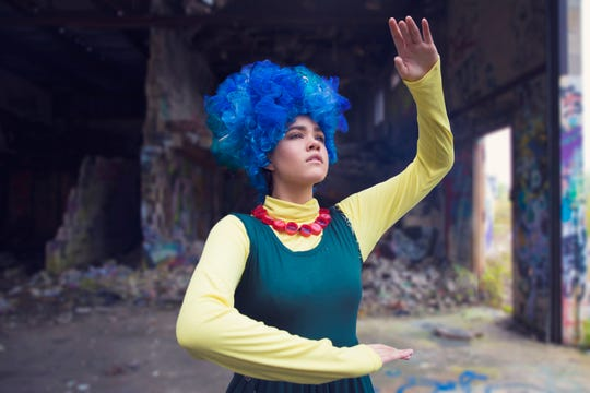 """Hannah Corlew plays Marge Simpson in FSU's """"Mr. Burns: A Post-Electric Play"""""""