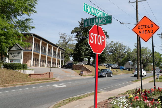 A detour sign on Thomasville Rd. forewarning drivers of the road being closed during the Garnet and Gold game this weekend Wednesday, April 3, 2019.
