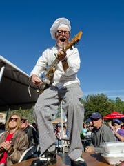 Florida blues musician Bill Wharton aka The Sauce Boss plays will be plying his book and his music at Word of South on Saturday.