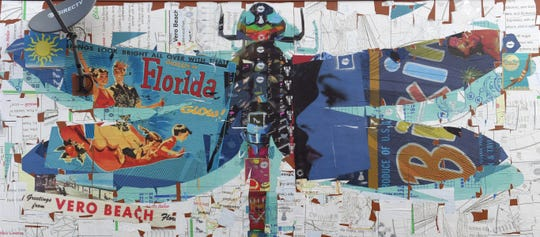Dragonfly, by Derek Gores, located on the south wall of Firestone Complete Auto Care, 1306 19th Place.