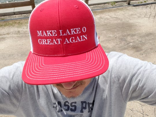 Make Lake O Great Again hats were produced by Ramon Iglesias for Anglers for Lake Okeechobee.