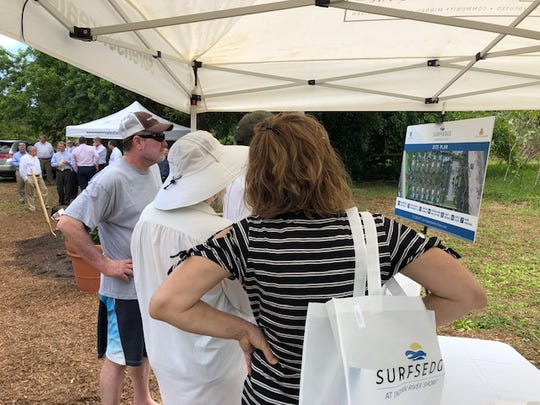Indian River Shores residents attend the groundbreaking April 3, 2019, for the Surfsedge, a new development along State Road A1A that will include 12 single-family homes and 12 condominiums.