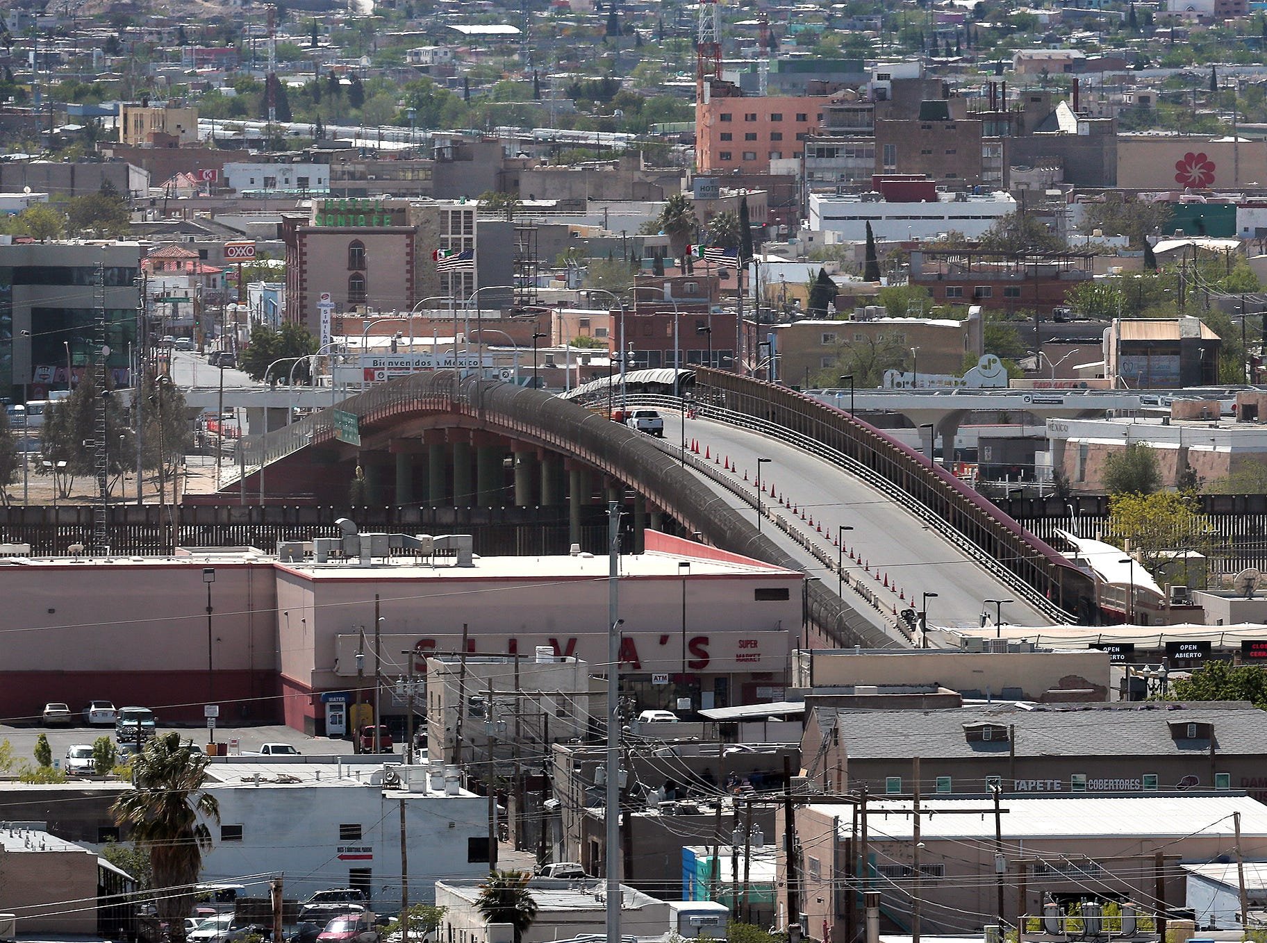 The Paso del Norte International Bridge at Stanton Street is a southbownd bridge from El Paso to Juarez.