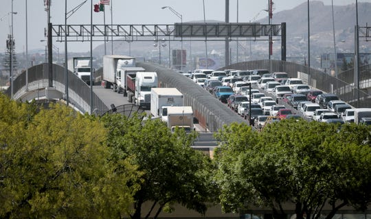 Trucks will not be allowed to enter the United States on Saturdays at the Bridge of the Americas as the inspection area will be closed to move resources  to more pressing needs.