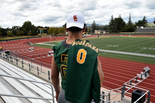 On the difficulty of playing football and basketball at Division I USC, Moorpark High superstar Drake London says he has been used to juggling both sports for as long as he can remember.