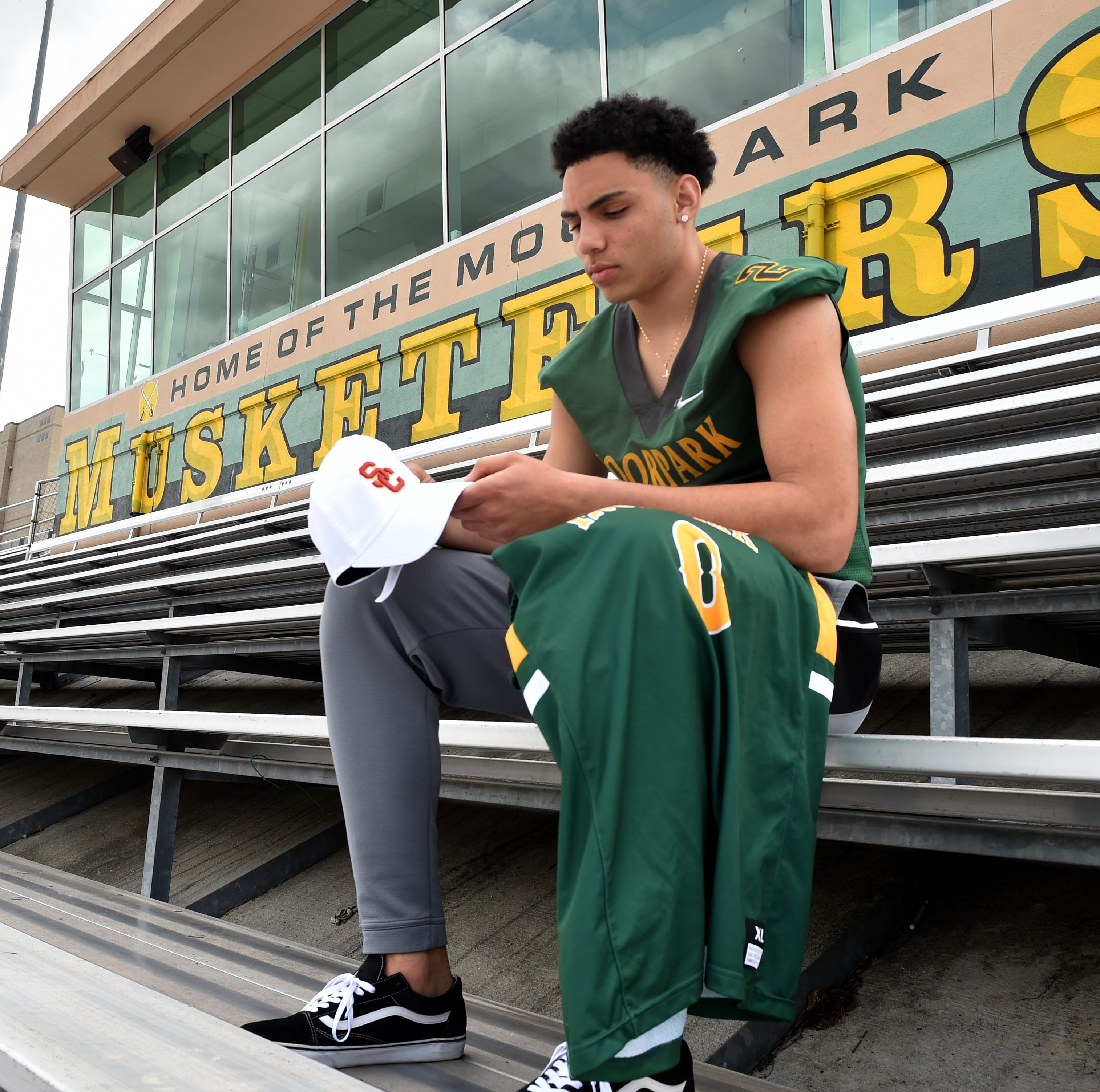 Moorpark's Drake London is singularly equipped to play football and basketball at USC