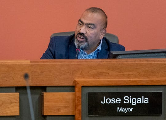 Tulare Mayor Jose Sigala speaks during a City Council meeting on Tuesday, April 2, 2019.