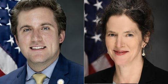 Sens. James Skoufis and Jen Metzger, Democrats from the Hudson Valley