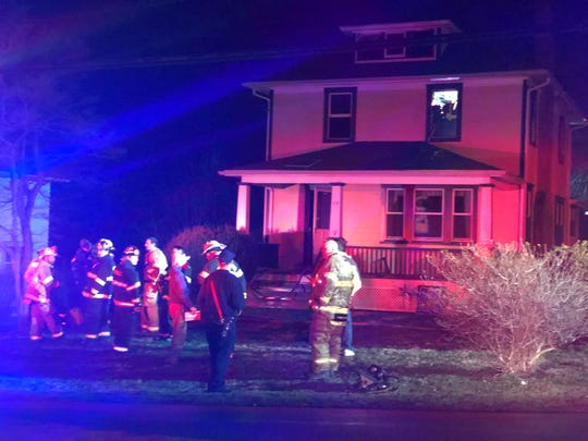 Fire departments responded to put out an upstairs fire in Hockessin on Tuesday night.