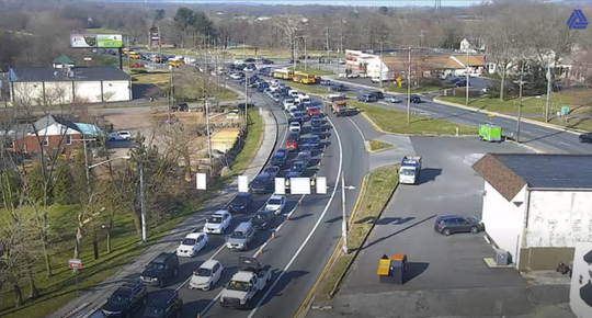 A crash Tuesday night at the intersection of Limestone Road and West Newport Pike is still being cleaned up Wednesday morning and creating some traffic snarls.