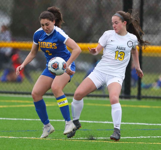 Caesar Rodney's Jessie Prillaman (left) is part of the Top XI team and is a regional All-American.