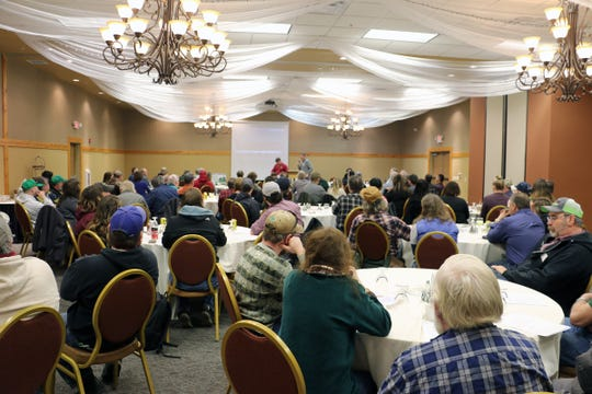 A crowd of 100 farmers gathered at an April 2 Dairy Together Road Show meeting in Eau Claire.