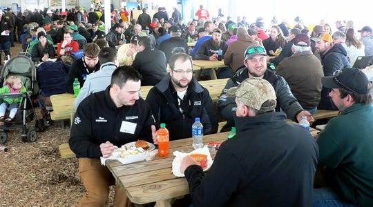 The food is always great and the dining tent is always full.