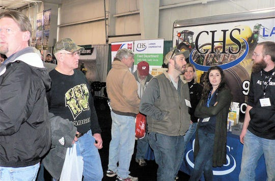 It was shoulder to shoulder people on Wednesday at the WPS Farm Show.