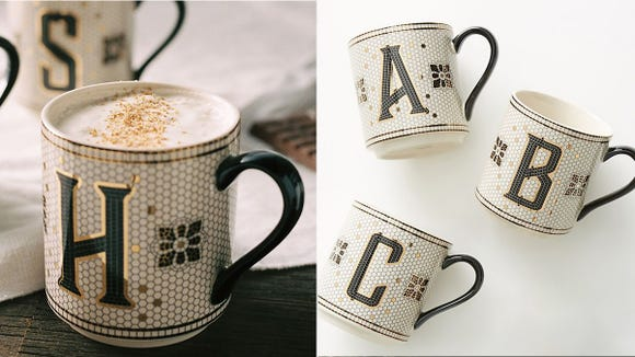 These amazing mugs remind us of that classic subway tile look and we want them all.