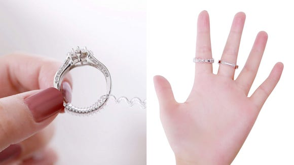 Ring a little loose? You don't need to get it resized. Just add this innovative little coil and it'll fit like a dream.
