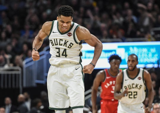 Milwaukee Bucks forward Giannis Antetokounmpo.