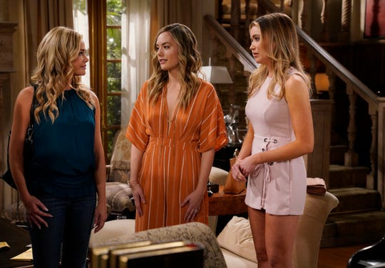 "Denise Richards is set to star on ""The Bold and the Beautiful,"" see here alongside Annika Noelle and Katrina Bowden."