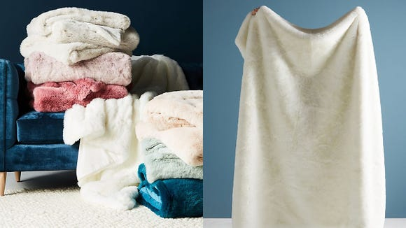You'll definitely want to snuggle up with this sherpa blanket.