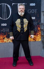 "NEW YORK, NEW YORK - APRIL 03: Kristian Nairn attends the ""Game Of Thrones"" Season 8 Premiere on April 03, 2019 in New York City. (Photo by Dimitrios Kambouris/Getty Images) ORG XMIT: 775307718 ORIG FILE ID: 1140223971"