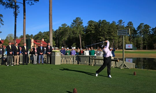 Jennifer Kupcho hits the first tee stroke on No. 1 during Round 1 for the Augusta National Women's Amateur.