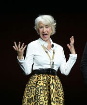 Helen Mirren got salty during the Warner Bros. presentation at CinemaCon on Tuesday.