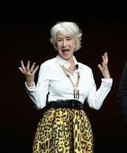 Helen Mirren got salty during the Warner Bros. presentation at CinemaCon on Tuesday.