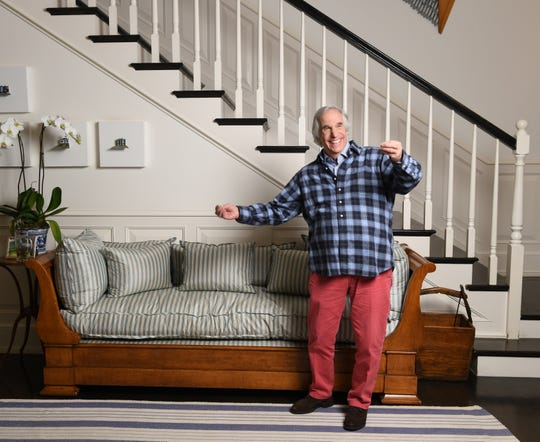 Henry Winkler, seen here at his Los Angeles home, has plenty of reason to be happy, winning an Emmy for HBO's 'Barry,' now back for Season 2, and enjoying the success of his Hank Zipzer book series.