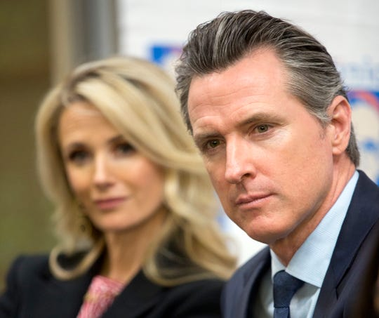 California Gov. Gavin Newsom, with his wife Jennifer Siebel Newsom, have among their holdings assets from the PlumpJack Group, a collections of wineries and hotels. When Newsom became governor earlier this year, the couple put those assets in a blind trust.