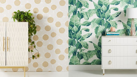 These removable wallpaper selections can really help tie a room together.