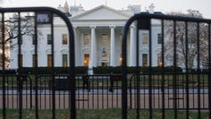 The White House behind security barriers in Washington on March 24, 2019.