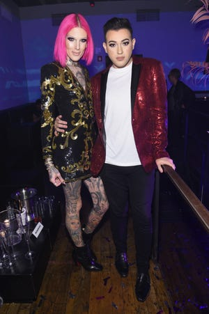 Jeffree Star and make-up artist Manny Gutierrez attends as Marc Jacobs celebrates #MarcTheNight on November 17, 2016 in New York City.
