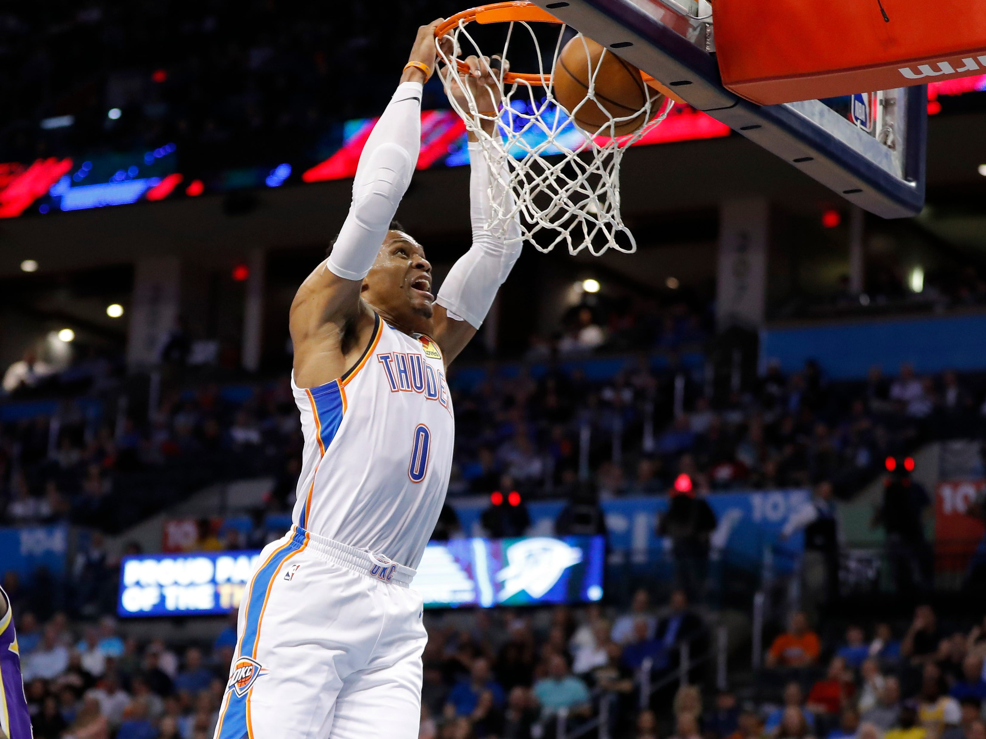 116. Russell Westbrook, Thunder (April 2): 20 points, 20 rebounds, 21 assists in 119-103 win over Lakers (31st of season).