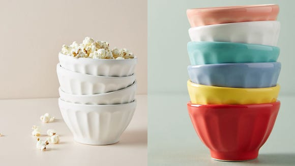 These mini latte bowls can add a pop of color to your dining room.