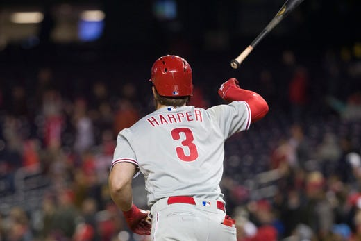 pick up 4910d 7acb7 Phillies owner: Fans embraced Bryce Harper, 'turned off' by ...