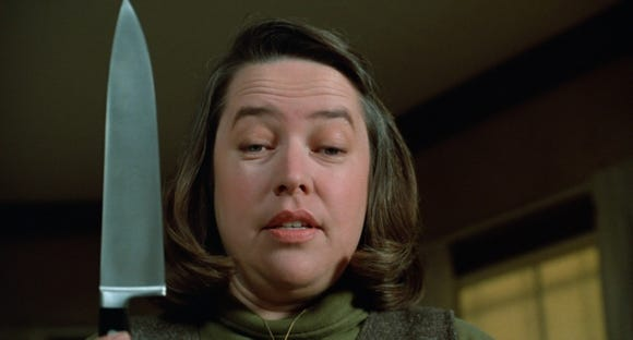 "Kathy Bates played obsessive superfan Annie Wilkes in 1990's Stephen King adaptation ""Misery."""