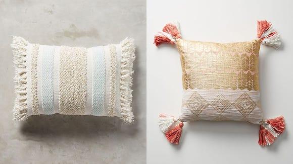 Nothing makes a sofa more inviting than a few cute throw pillows.