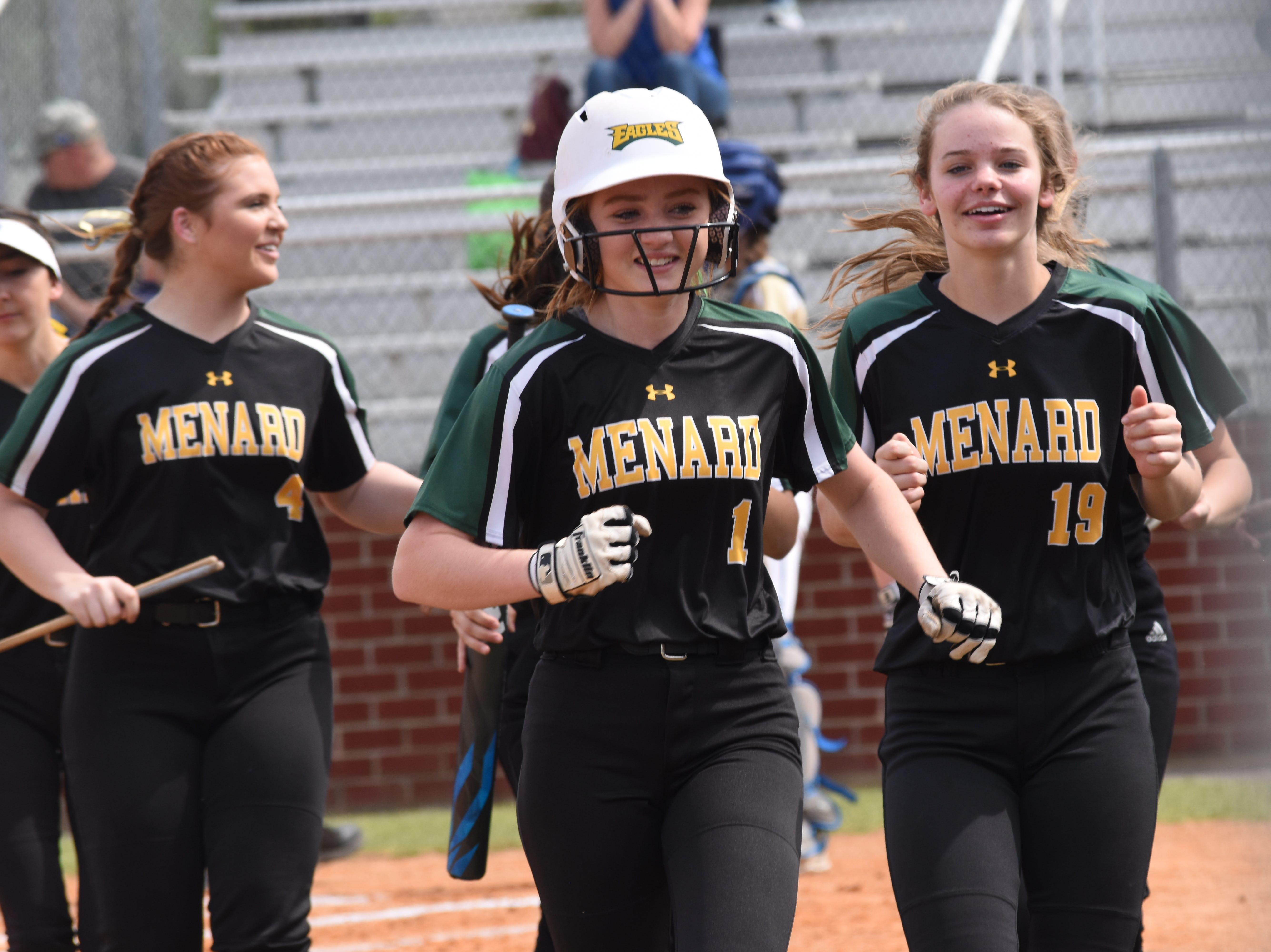Holy Savior Menard High School hosted Sacred Heart High School of Ville Platte Wednesday, April 3, 2019. Menard won 12-11.
